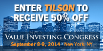 Value Investing Congress Sept 8-9 2014 New York, NY